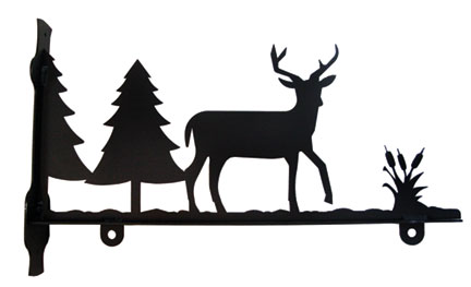 Deer and Pines - Sign Bracket 36 Inch