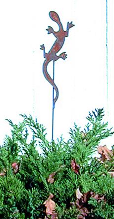 Salamander - Rusted Garden Stake