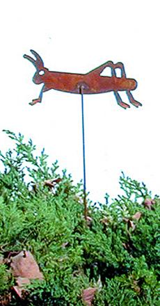 Grasshopper - Rusted Garden Stake