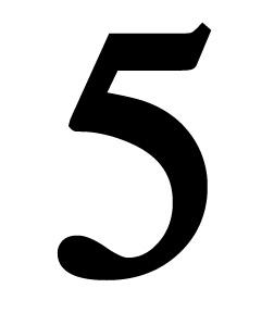 Number 5 Medium