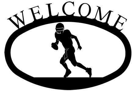 NO LONGER AVAILABLE - Football  Player - Welcome Sign Small