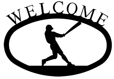 Baseball Player - Welcome Sign Small