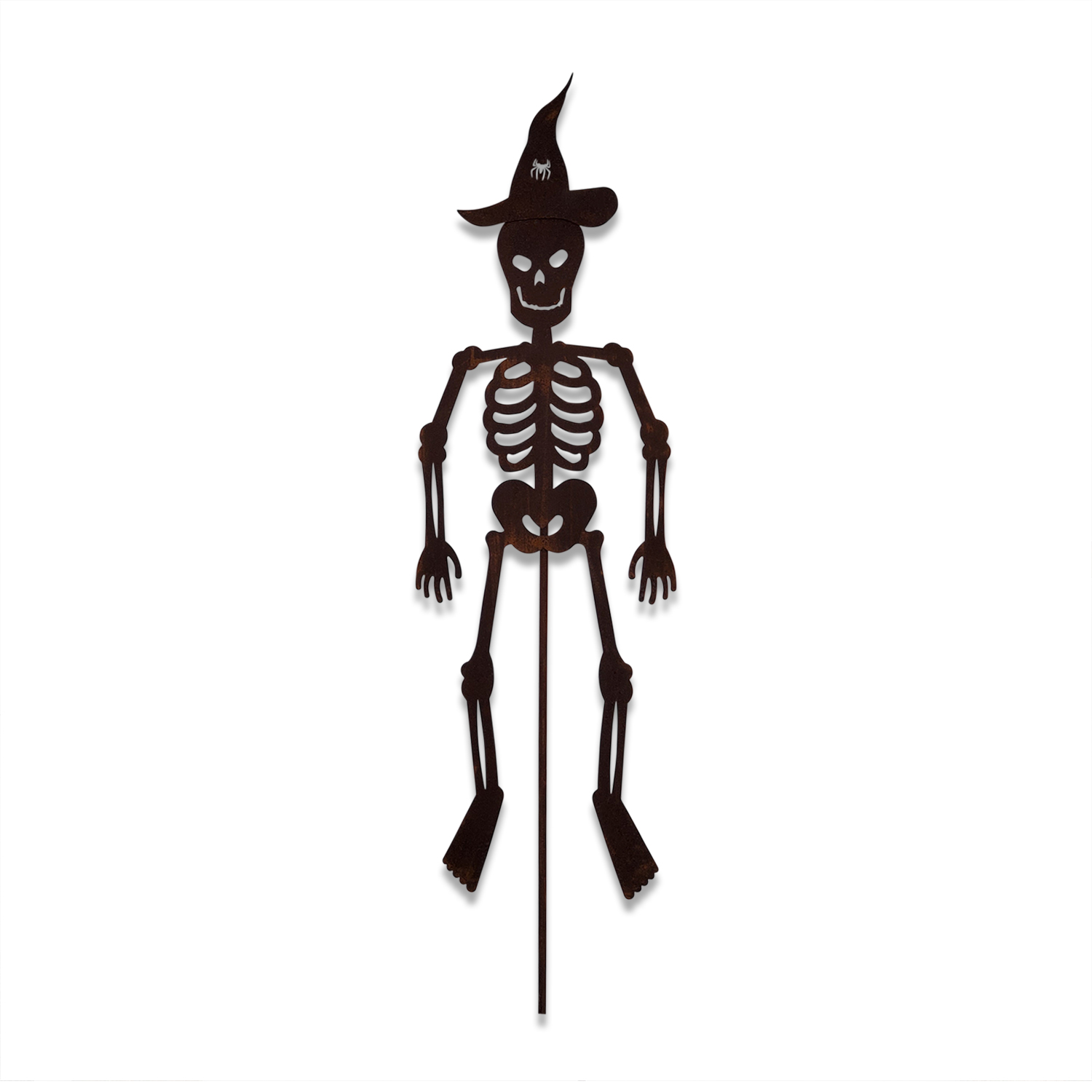 Skeleton with a Hat - Rusted Garden Stake