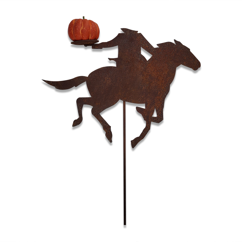 Headless Horseman - Rusted Garden Stake