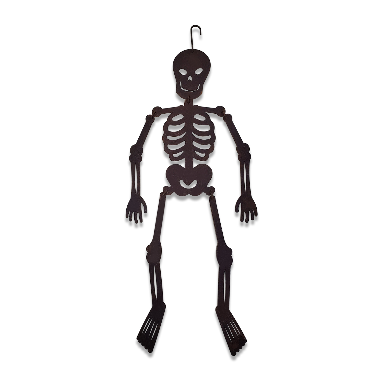 Very Scary Skeleton RUSTED Hanging Skeleton Silhouette