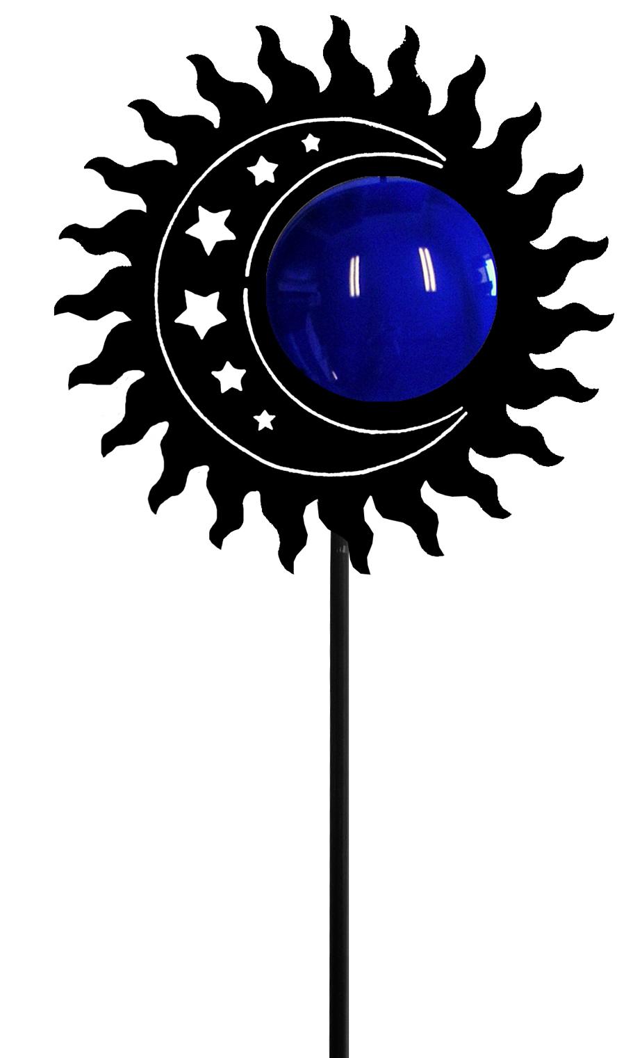 Sun-Moon - Garden Stake