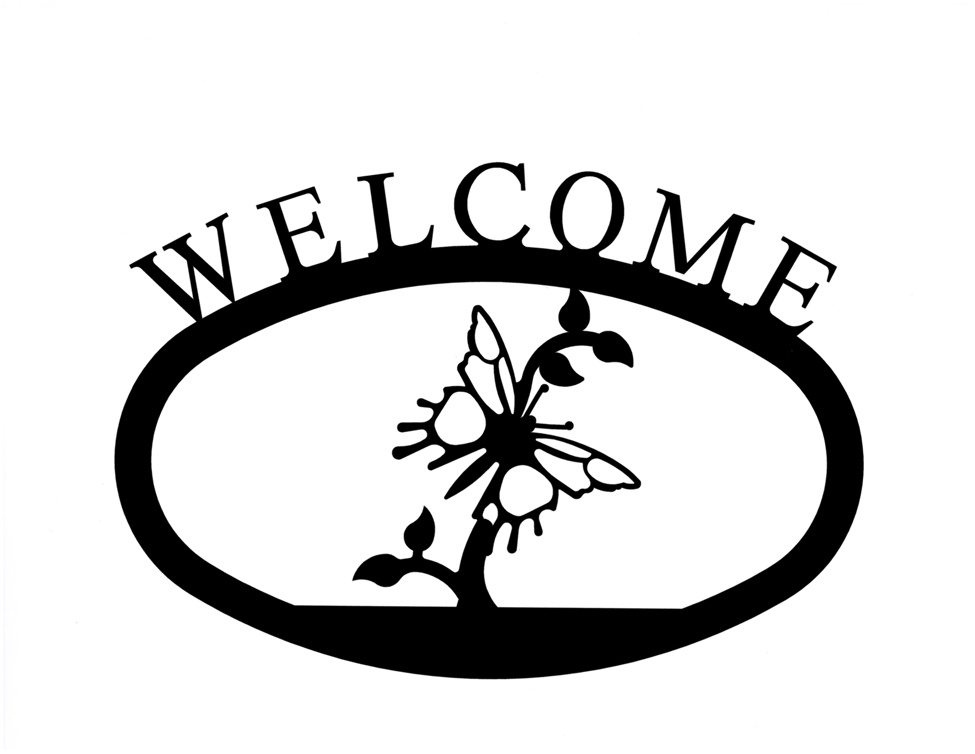 Butterfly - Welcome Sign Small