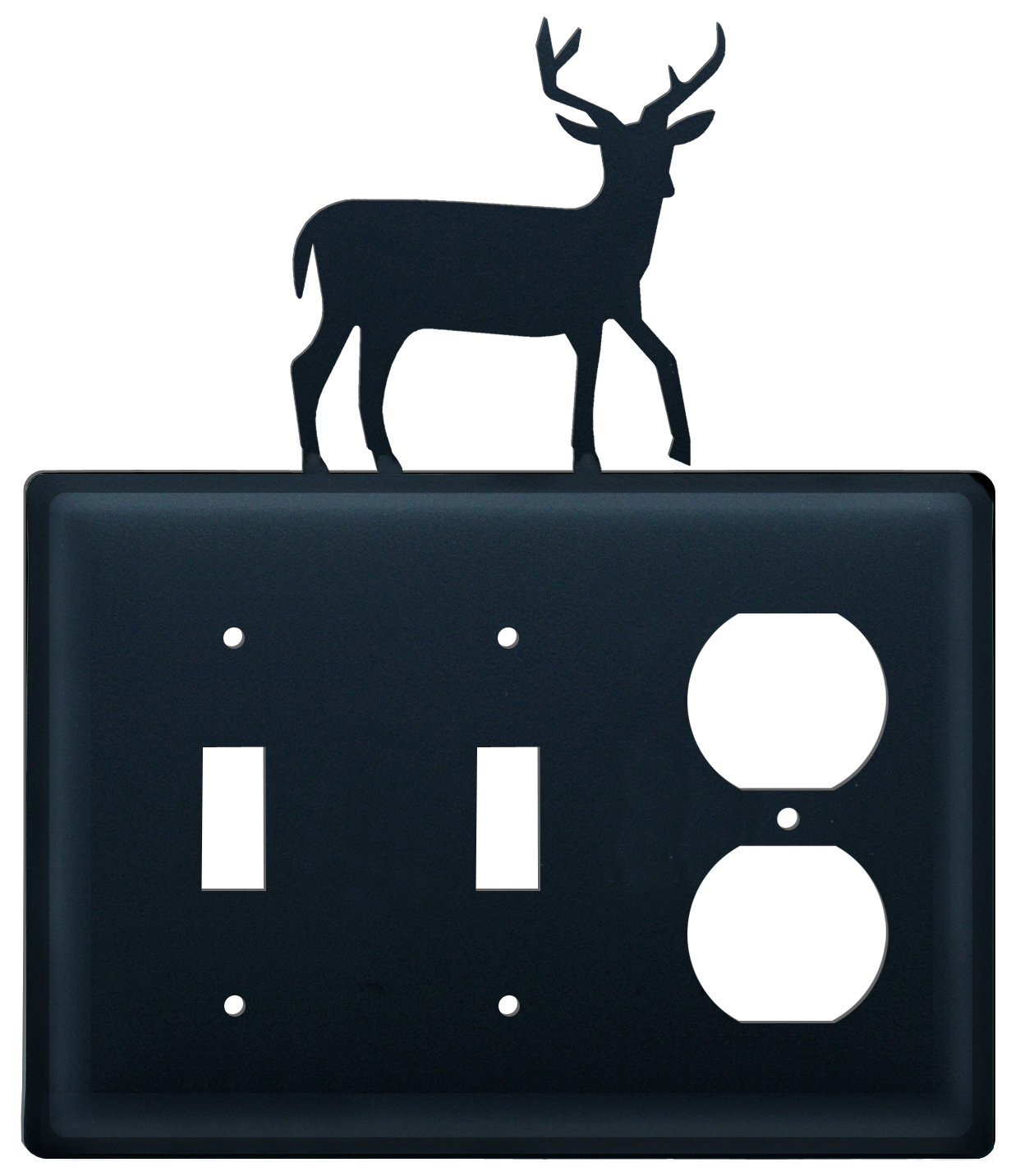 Deer - Double Switch & Single Outlet Cover