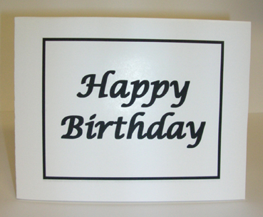 Happy Birthday Card with Envelope