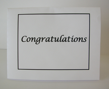 Congratulations Card with Envelope