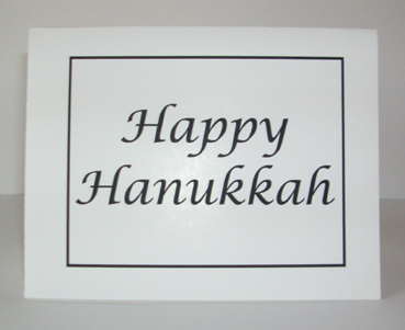 Happy Hanukkah Card with Envelope