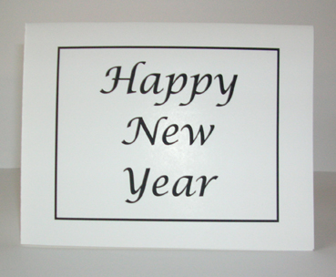 Happy New Year Card with Envelope