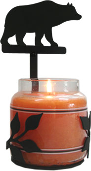 Bear - Large Jar Sconce