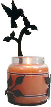 Hummingbird - Large Jar Sconce