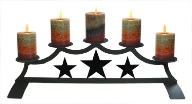 Star - Fireplace Pillar Candle Holder