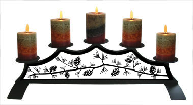 Pinecone - Fireplace Pillar Candle Holder