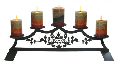 Victorian - Fireplace Pillar Candle Holder