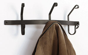 Coat Bar with 3 Hooks