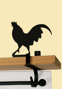 Rooster - Curtain Shelf Brackets