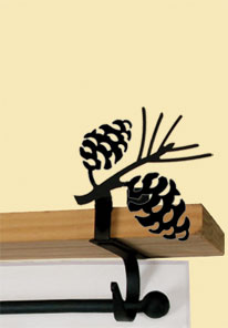 Pinecone - Curtain Shelf Brackets