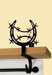 Horseshoe - Curtain Shelf Brackets