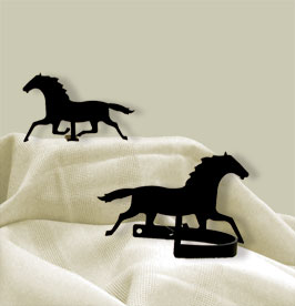 Running Horse - Curtain Tie Backs