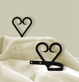 Heart - Curtain Tie Backs