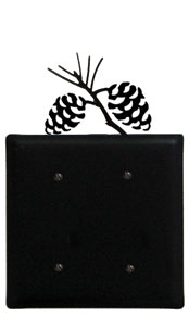 Pinecone - Double Elec. Cover - CUSTOM Product - If Out Of Stock, Allow 4 to 6 Weeks