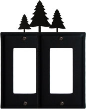 Pine Trees - Double GFI Cover