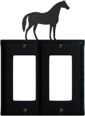 Horse - Double GFI Cover