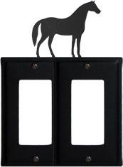 Horse - Double GFI Cover