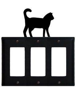 Cat - Triple GFI Cover - CUSTOM Product - If Out Of Stock, Allow 4 to 6 Weeks