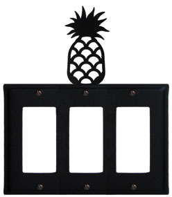 Pineapple - Triple GFI Cover