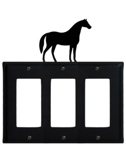 Horse - Triple GFI Cover