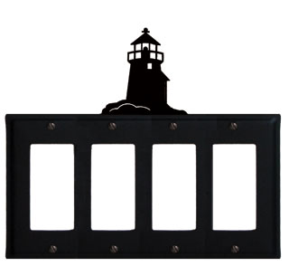 Lighthouse - Quad. GFI Cover - CUSTOM Product - If Out Of Stock, Allow 4 to 6 Weeks