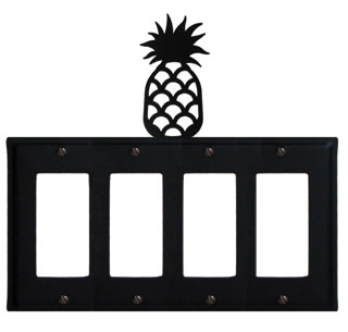 Pineapple - Quad. GFI Cover - CUSTOM Product - If Out Of Stock, Allow 4 to 6 Weeks