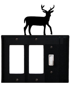 Deer - Double GFI and Single Switch Cover - CUSTOM Product - If Out Of Stock, Allow 4 to 6 Weeks