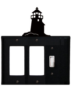 Lighthouse - Double GFI and Single Switch Cover - CUSTOM Product - If Out Of Stock, Allow 4 to 6 Weeks