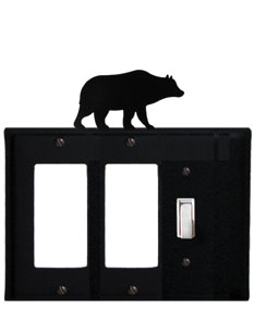 Bear - Double GFI and Single Switch Cover - CUSTOM Product - If Out Of Stock, Allow 4 to 6 Weeks
