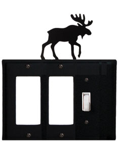 Moose - Double GFI and Single Switch Cover - CUSTOM Product - If Out Of Stock, Allow 4 to 6 Weeks