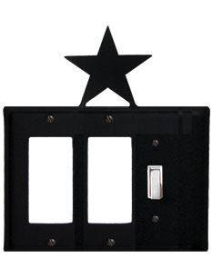 Star - Double GFI and Single Switch Cover - CUSTOM Product - If Out Of Stock, Allow 4 to 6 Weeks