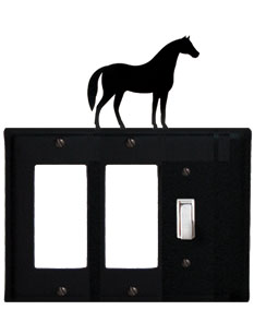 Horse - Double GFI and Single Switch Cover