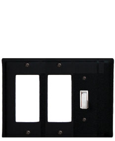 Plain - Double GFI and Single Switch Cover - CUSTOM Product - If Out Of Stock, Allow 4 to 6 Weeks