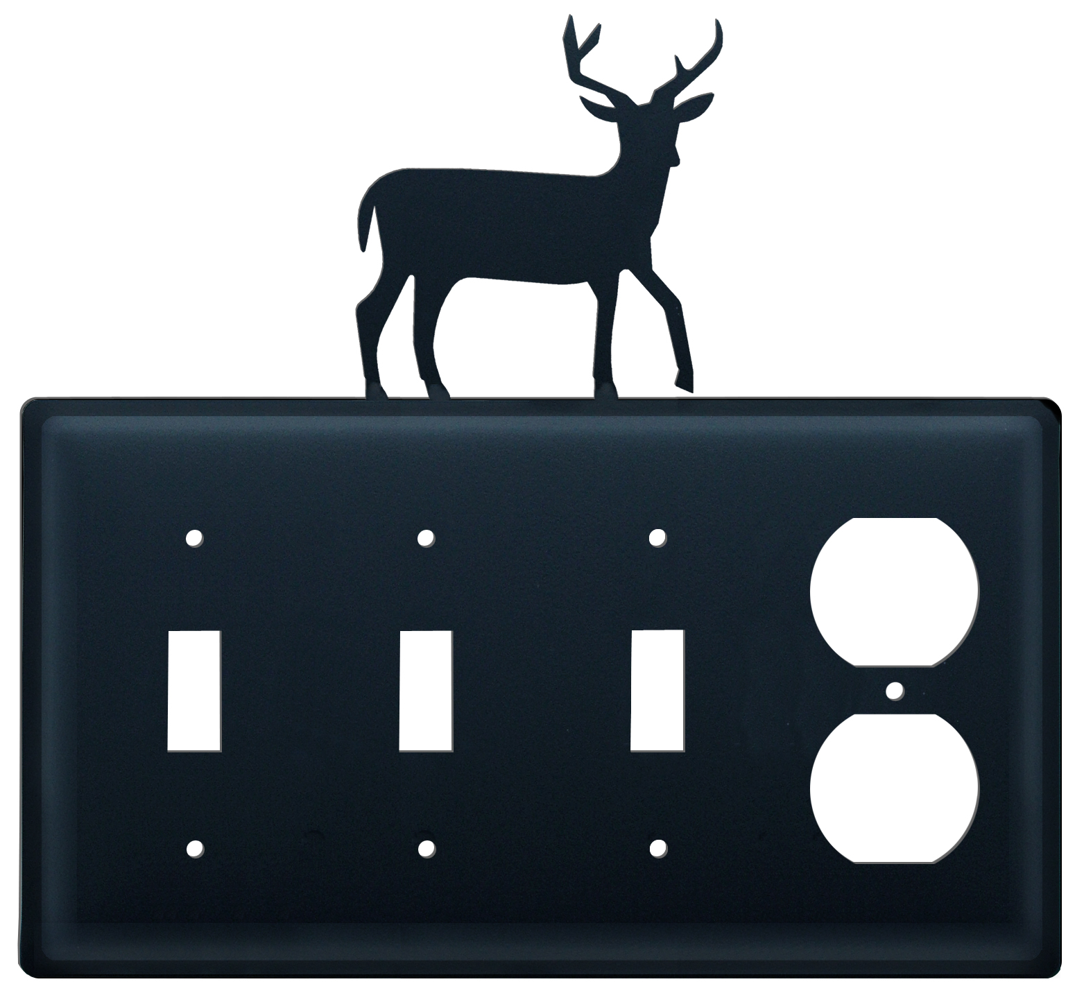 Deer - Triple Switch & Single Outlet - CUSTOM Product - If Out Of Stock, Allow 4 to 6 Weeks