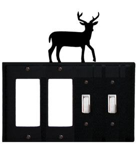Deer - Double GFI and Double Switch Cover - CUSTOM Product - If Out Of Stock, Allow 4 to 6 Weeks
