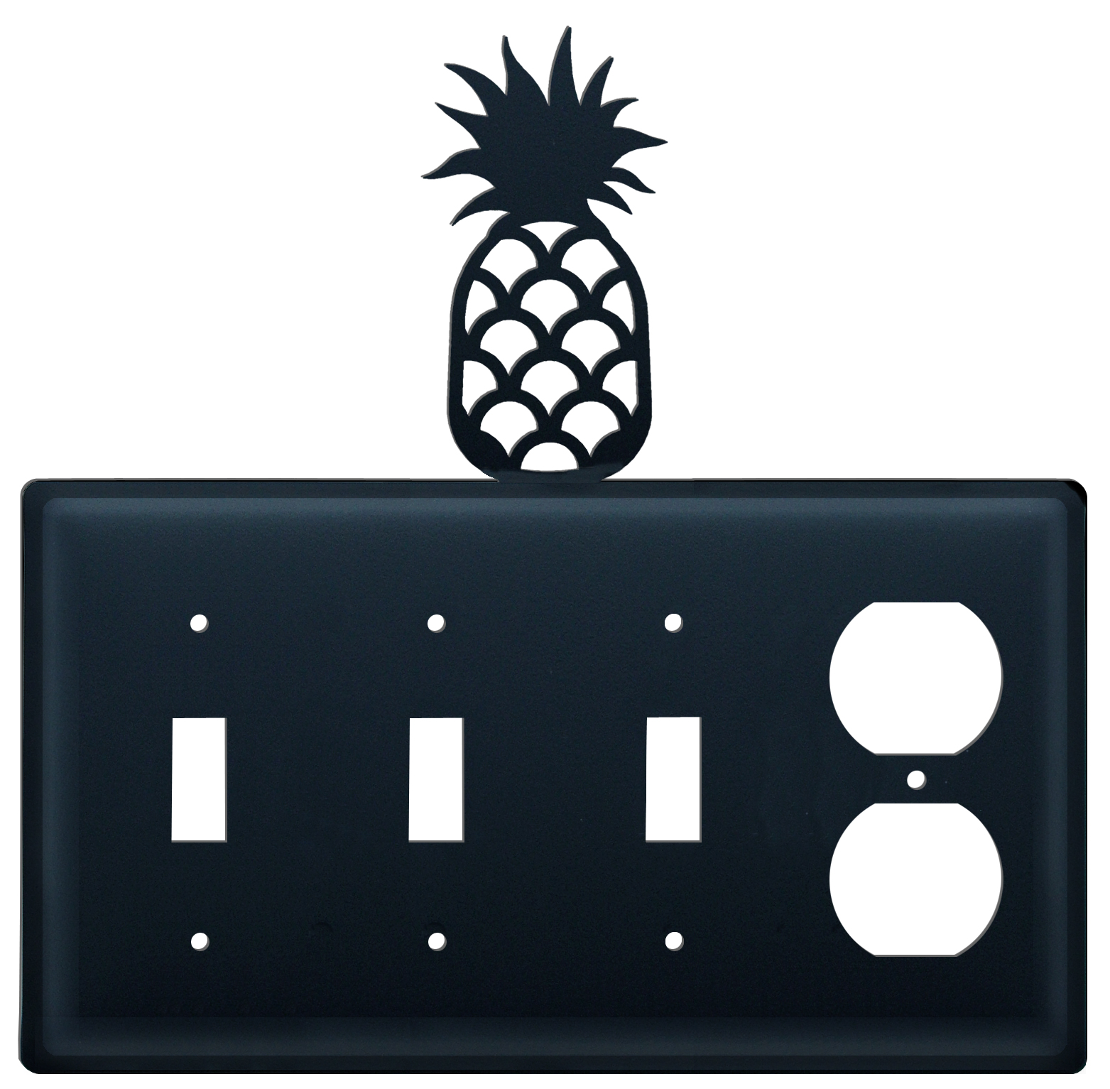 Pineapple - Triple Switch & Single Outlet - CUSTOM Product - If Out Of Stock, Allow 4 to 6 Weeks