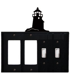 Lighthouse - Double GFI and Double Switch Cover - CUSTOM Product - If Out Of Stock, Allow 4 to 6 Weeks