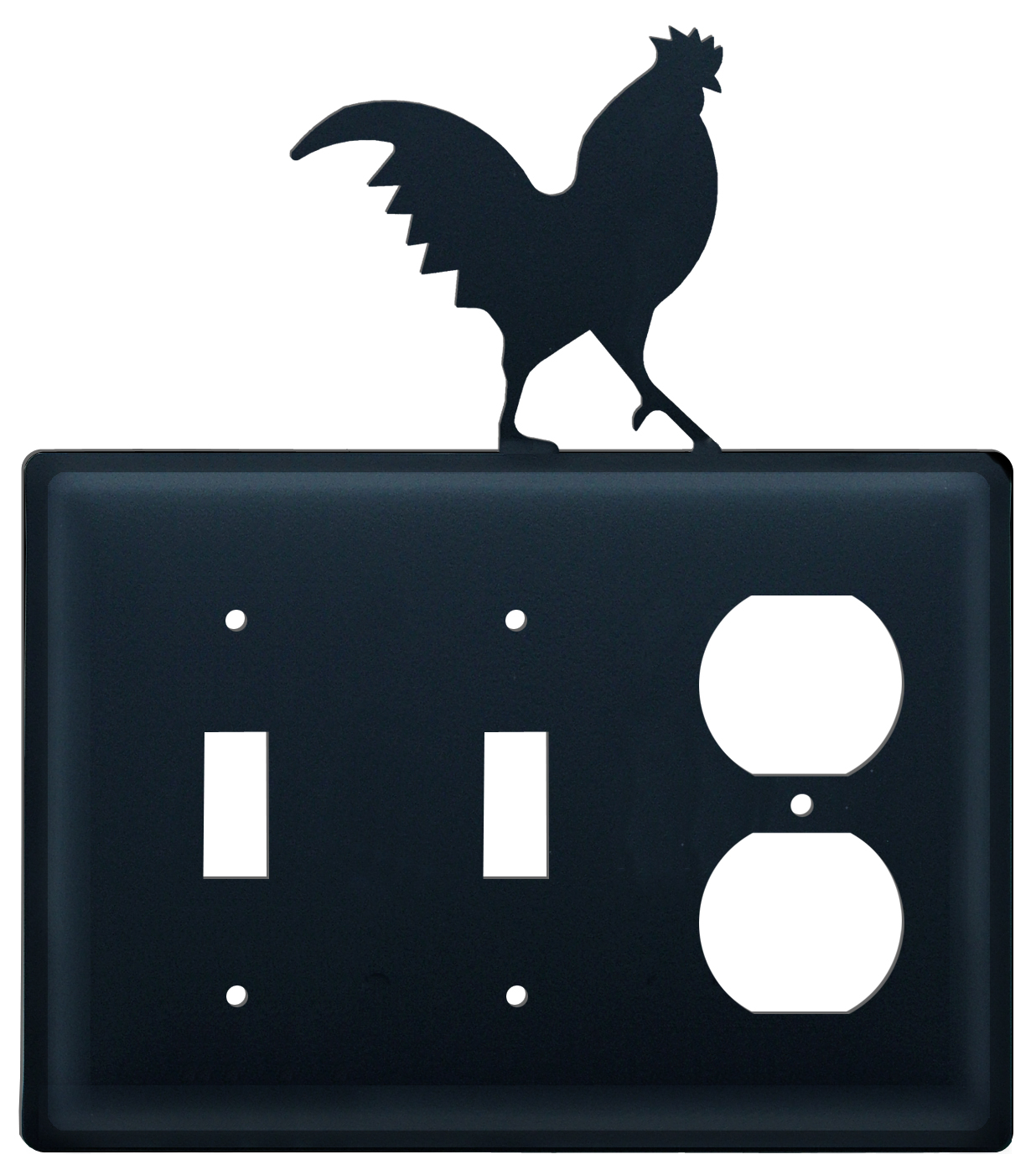 Rooster - Double Switch & Single Outlet Cover