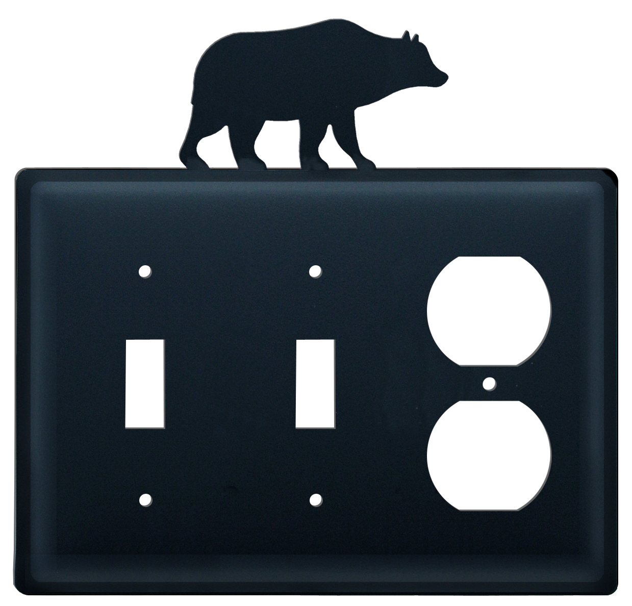 BEAR - Double Switch & Single Outlet Cover