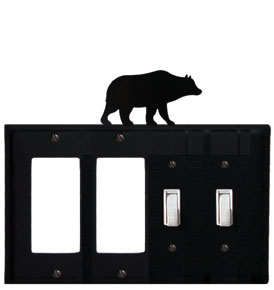 Bear - Double GFI and Double Switch Cover - CUSTOM Product - If Out Of Stock, Allow 4 to 6 Weeks